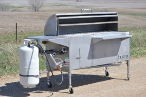 Model 2448GSS with full hood, front shelf, and holding and warming grate.