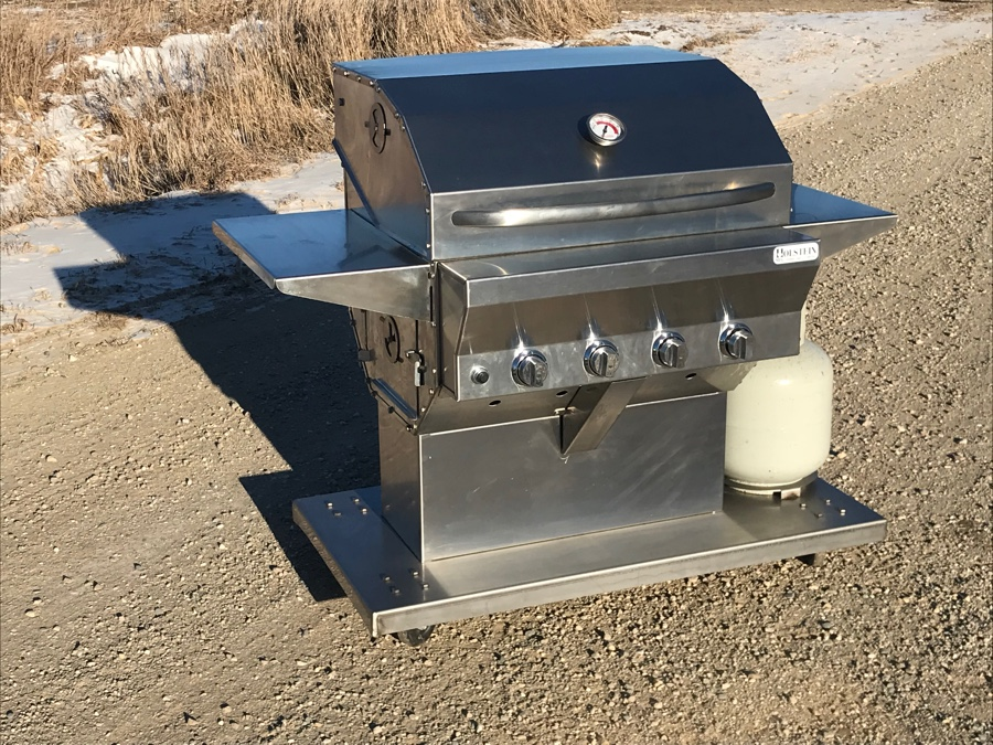 Pitfire Grill Cabinet Model, with optional side tables.